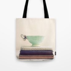 Tea & Books Tote Bag