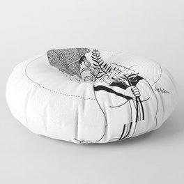 The girl Floor Pillow