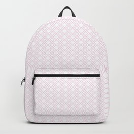 Abstract line pattern, pink Backpack