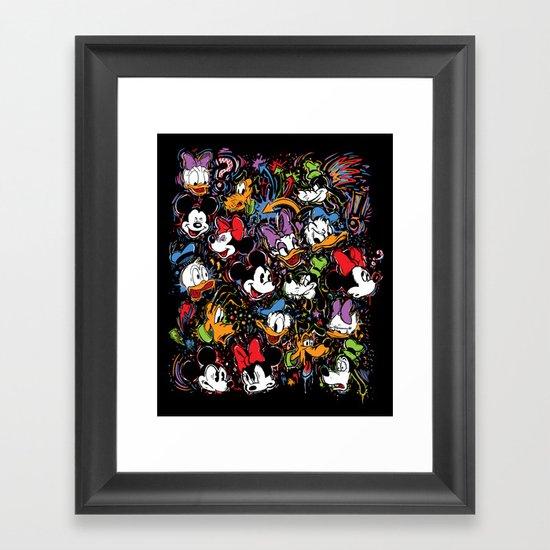 Emotion Explosion Framed Art Print