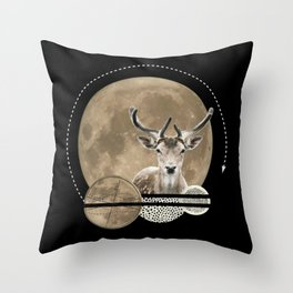 Real. Reindeer. Throw Pillow