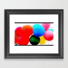ballooooons Framed Art Print