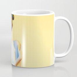 Nude Woman Before Yellow Background Coffee Mug
