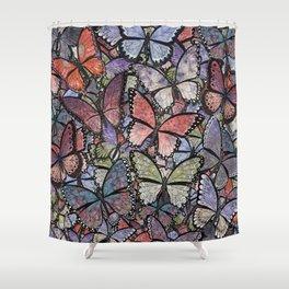 butterflies galore grunge version Shower Curtain