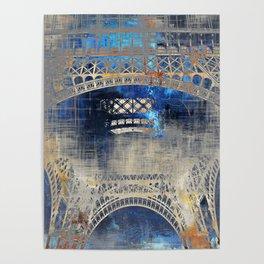 Blue Night in Paris Poster