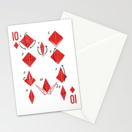 Clipped Wings Deck: The 10 of Diamonds Stationery Cards