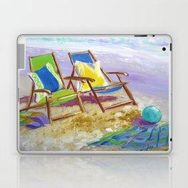 Beach Chairs Laptop & iPad Skin