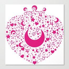 Heart Brooch Sailor Moon Canvas Print