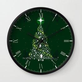 Star Spangled Christmas Tree Wall Clock