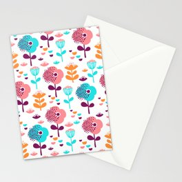Colorful Floral Design by Mak Mak Stationery Cards