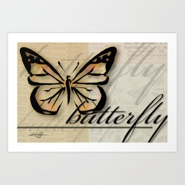 Butterfly by Kathy morton Stanion Art Print