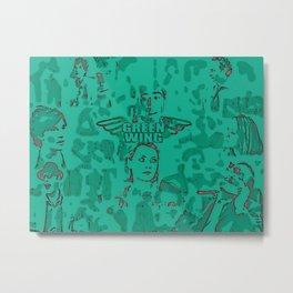 Strange Wing Of Green Metal Print