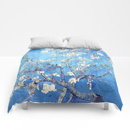 Vincent Van Gogh Almond Blossoms. Sky Blue Comforters