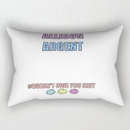 Allison Argent Rectangular Pillow