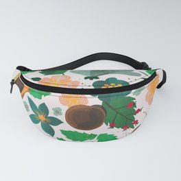 Strawberry salad garden party with the snails Fanny Pack