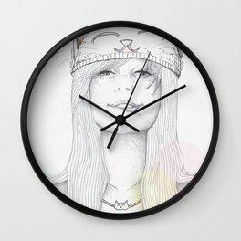 Cat Girl Wall Clock