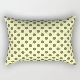 POLKA DOTS, OLIVE GREEN Rectangular Pillow