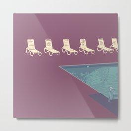 Poolside (purple) Metal Print