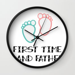 First Time Gand Father Grandfather Gifts Wall Clock