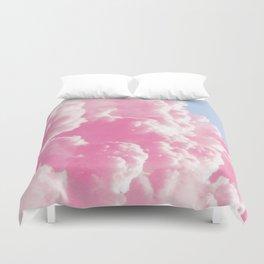 Retro cotton candy clouds Duvet Cover