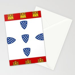 Old Portuguese flag Stationery Cards