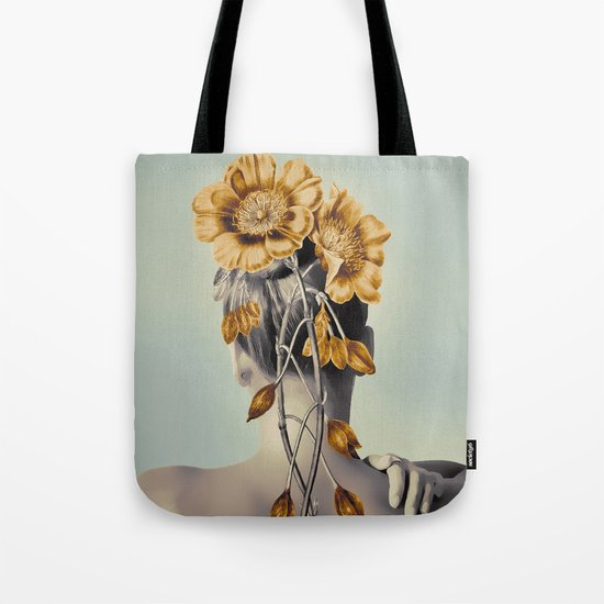 WOMAN WITH FLOWERS 2 Tote Bag