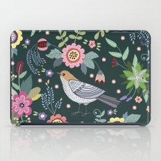 Pattern with beautiful bird in flowers iPad Case