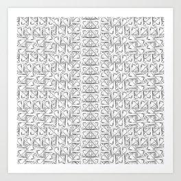 Phoenician Geometric Art Print
