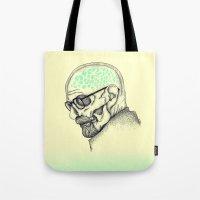 heisenberg Tote Bags featuring Heisenberg by Mike Koubou