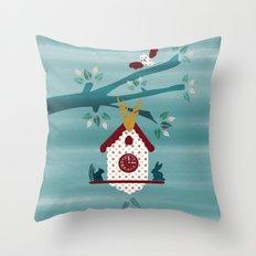 Cuckoo Tree  Throw Pillow