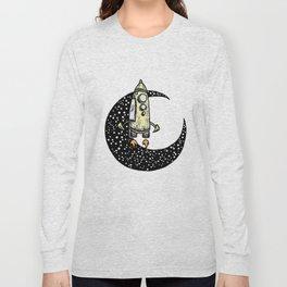 Spaceship Karen and moon Long Sleeve T-shirt