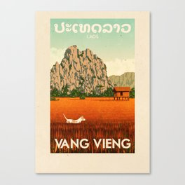 Laos - Vang Vieng Canvas Print