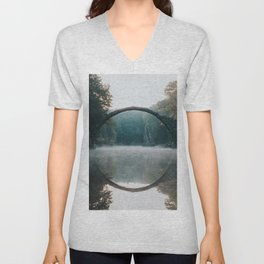 The Devil's Bridge - Landscape and Nature Photography Unisex V-Neck