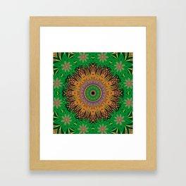 Retro Digital Art Polynesian Psychedelic Fun Floral Framed Art Print