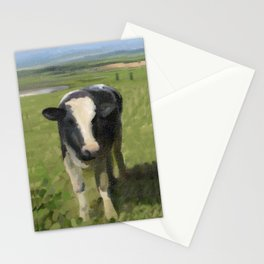 Curious Kiwi Cows Stationery Cards