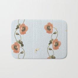 Poppy and stripe Bath Mat