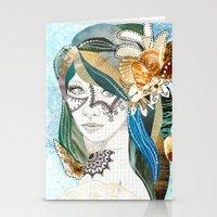 aqua Stationery Cards featuring Aqua by Jenndalyn