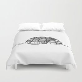 Reichstag Dome, Foster + Partners Duvet Cover