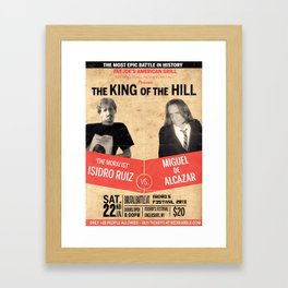 """The King Of The Hill"" Framed Art Print"