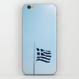 Greece flag iPhone Skin