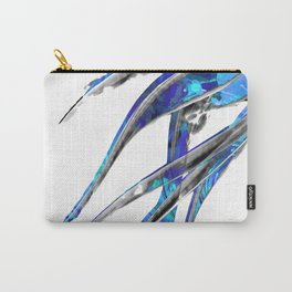 Abstract Blue And White Art - Flowing 5 - Sharon Cummings Carry-All Pouch
