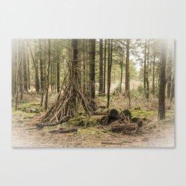 Teepee Woods  Canvas Print