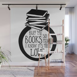 Bookish Engagment Wall Mural