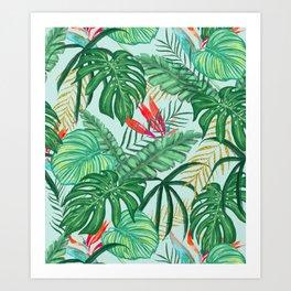 The Tropics ||| #illustration #tropical Art Print