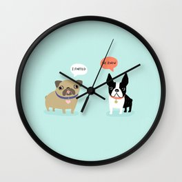 Dog Fart Wall Clock