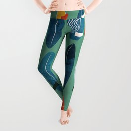 Surfboard green  Leggings
