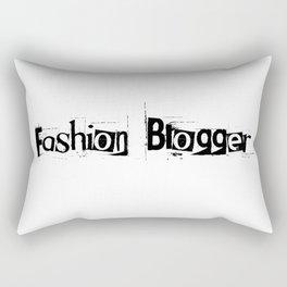Fashion Blogger Typo Rectangular Pillow