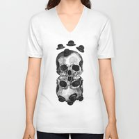 gravity V-neck T-shirts featuring Gravity by Gel Jamlang