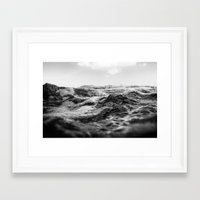 salt water Framed Art Prints featuring Salt Water by Andre Joaquim