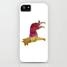 Australian Kelpie in watercolor iPhone Case